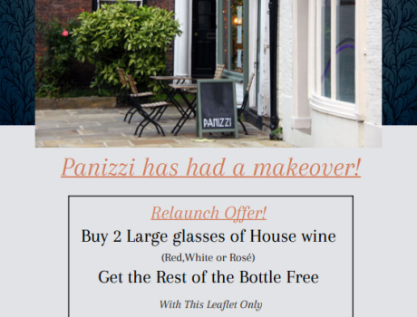 Panizzi Special Offer Leaflet