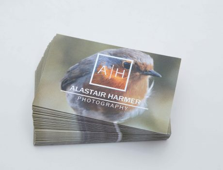 Alastair Harmer Photography business cards